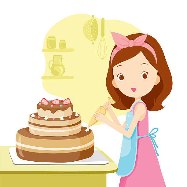 Royalty Free Cake Decorating Clip Art Vector Images