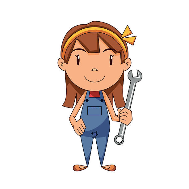 Royalty Free Female Mechanic Clip Art, Vector Images ...