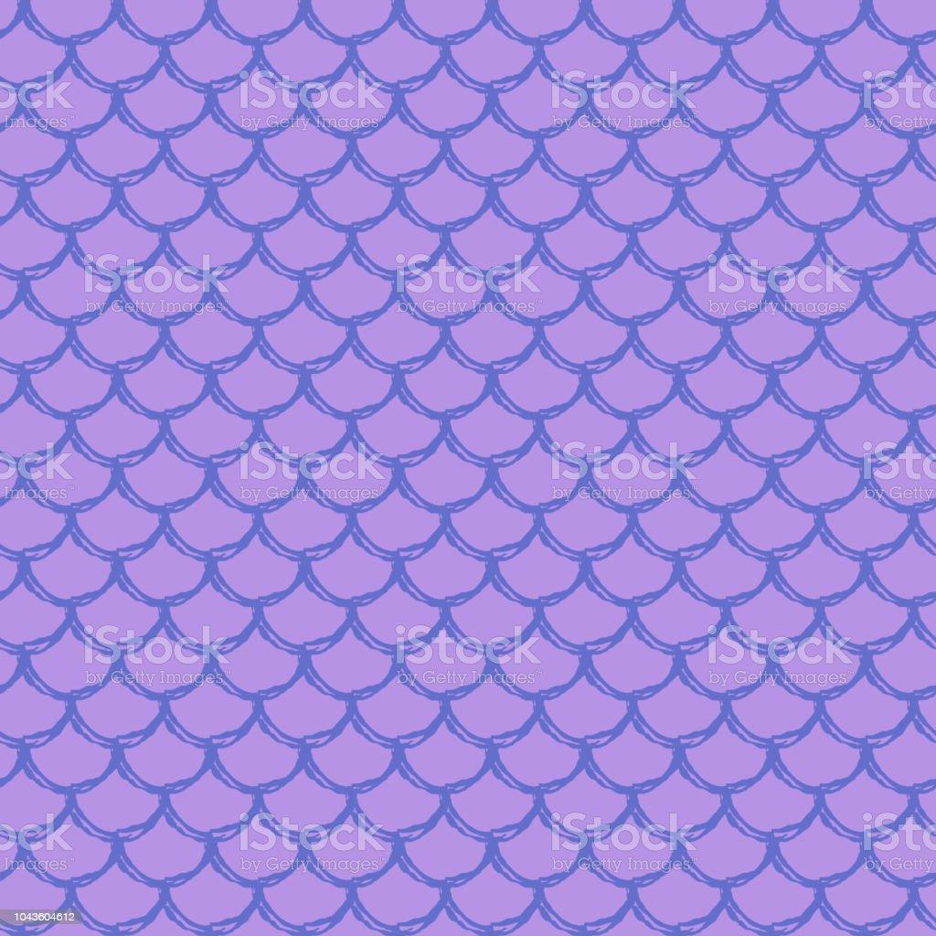 Girl mermaid seamless pattern vector art illustration