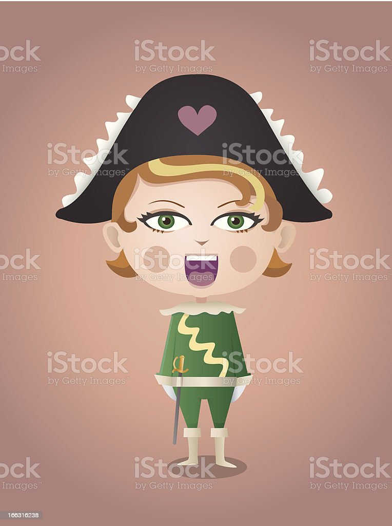 Girl Musketeer royalty-free girl musketeer stock vector art & more images of adult