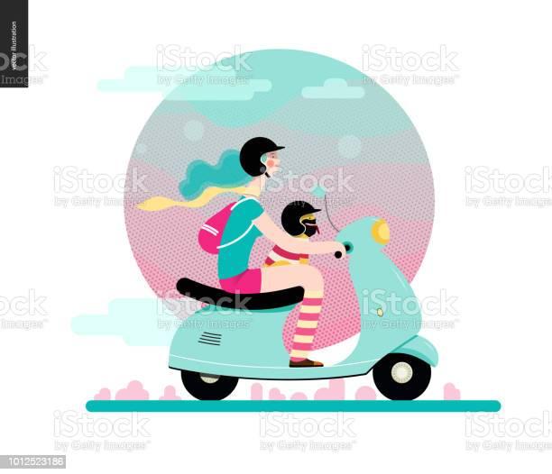 Girl on a scooter vector id1012523186?b=1&k=6&m=1012523186&s=612x612&h=8zyuju ck2r9iqv1gai3rpj6qebkkxw hfgawsmkjtk=