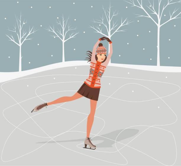 Girl on skates Girl on skates. Vector illustration figure skating stock illustrations