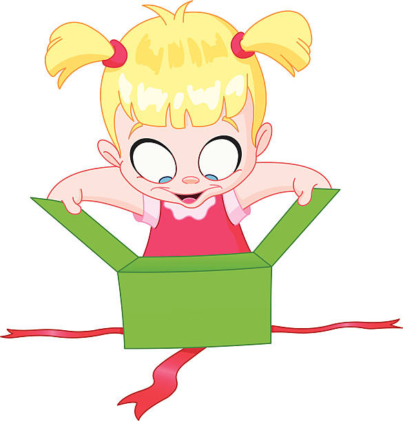 Baby Opening Gift Illustrations, Royalty-Free Vector ...