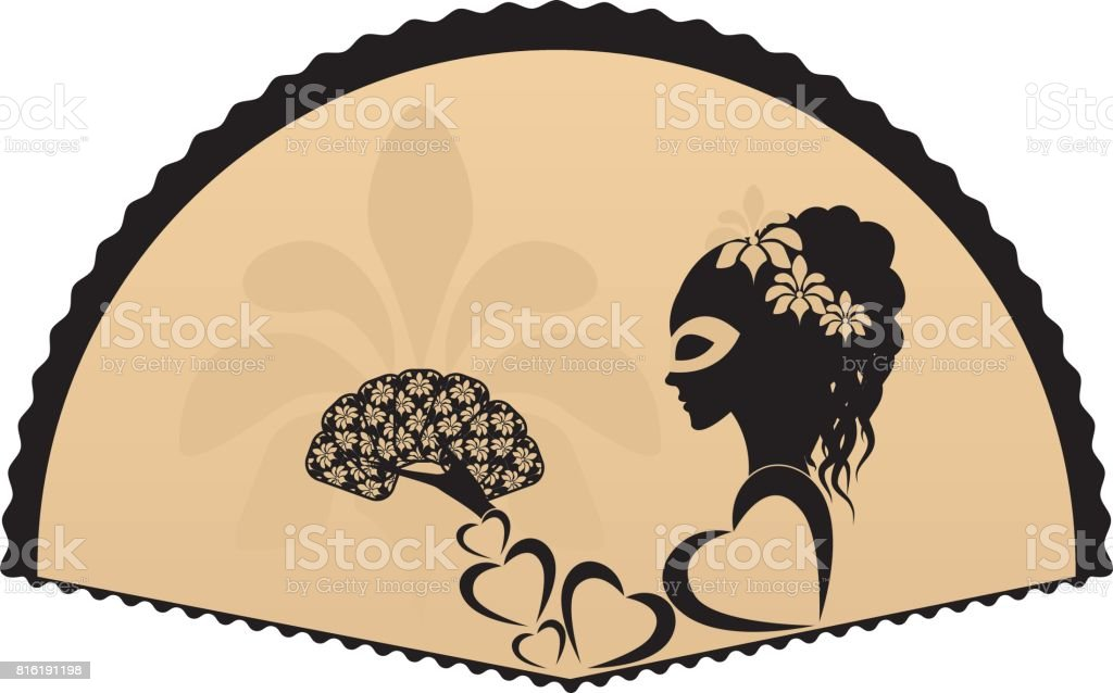 girl or woman vector art illustration