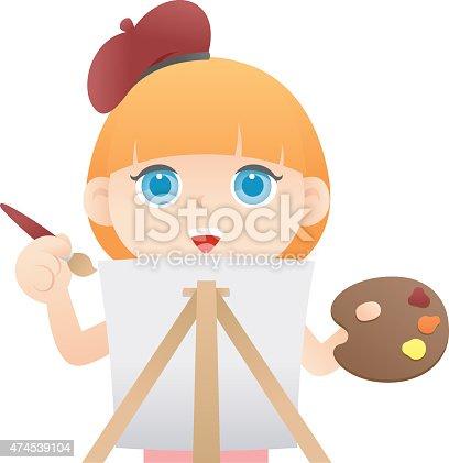 istock Girl painting 474539104