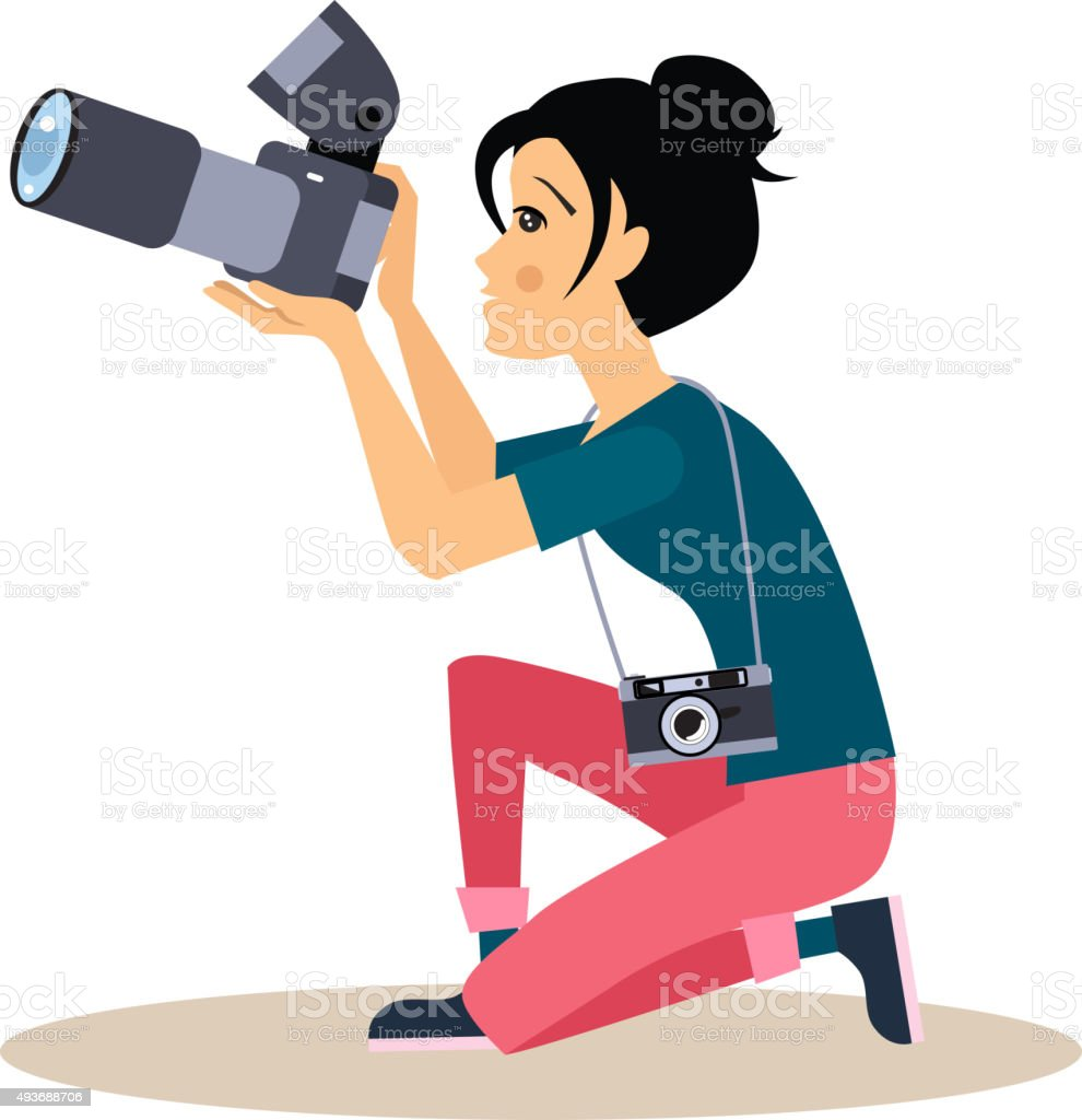 woman photographer clip art  vector images   illustrations Photography Camera Clip Art Clip Art Digital Photography