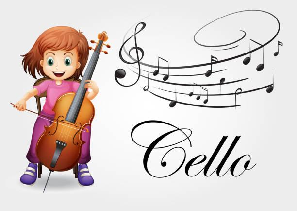 Royalty Free Cello White Background Clip Art, Vector ...