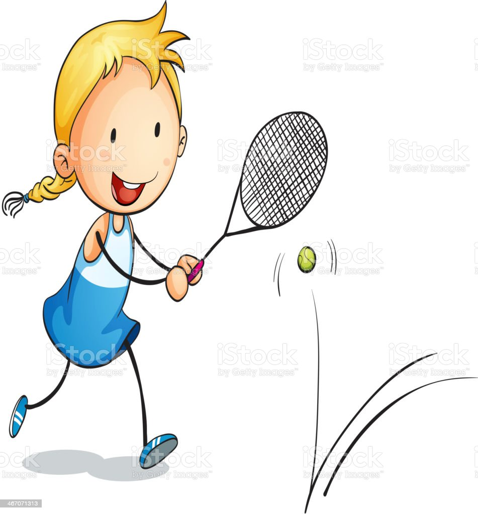 girl playing tennis royalty-free girl playing tennis stock vector art & more images of activity