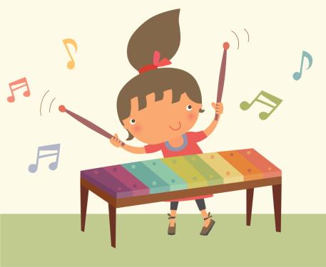 Girl Playing Xylophone