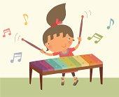 istock Girl Playing Xylophone 455458795