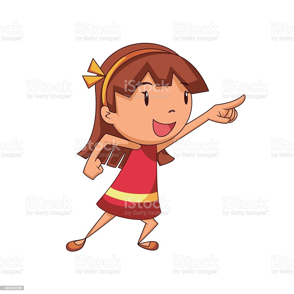 royalty free girl pointing clip art vector images illustrations rh istockphoto com pointing clipart gif pointing clipart gif
