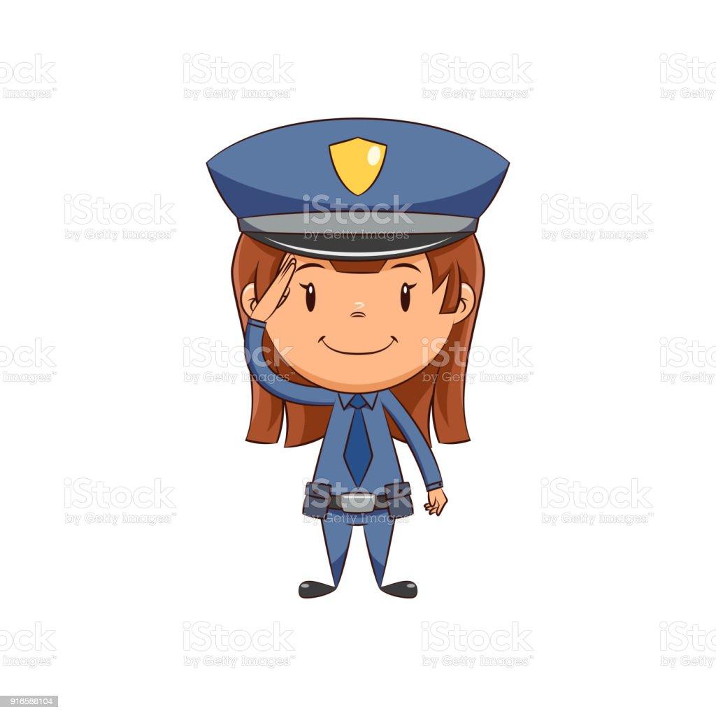 royalty free policewoman clip art vector images illustrations rh istockphoto com police officer clipart png police officer clipart images