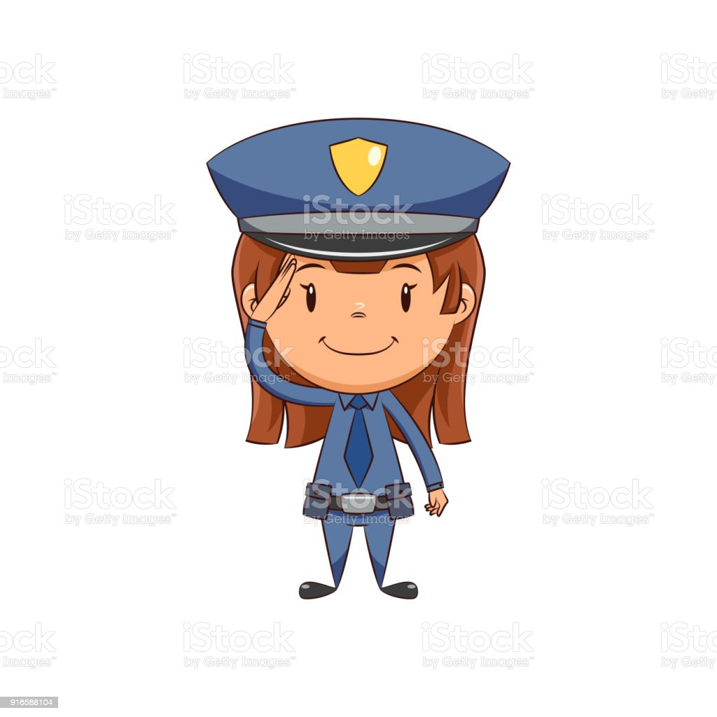 Clip art policewoman