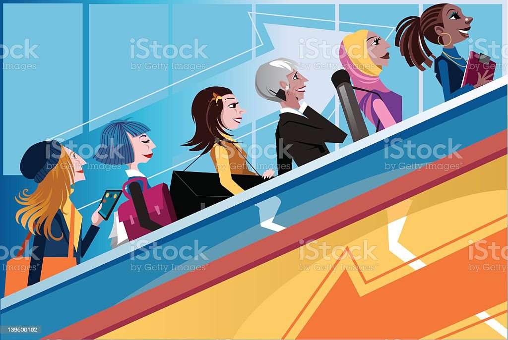 Girl power royalty-free girl power stock vector art & more images of active seniors
