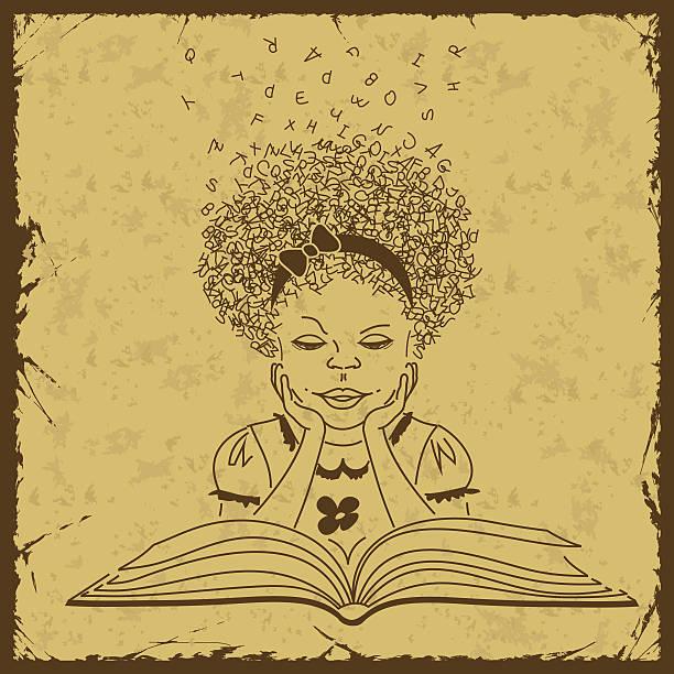 mädchen liest ein buch - reiseliteratur stock-grafiken, -clipart, -cartoons und -symbole