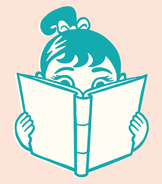 Girl Reading Book http://csaimages.com/images/istockprofile/csa_vector_dsp.jpg children only stock illustrations