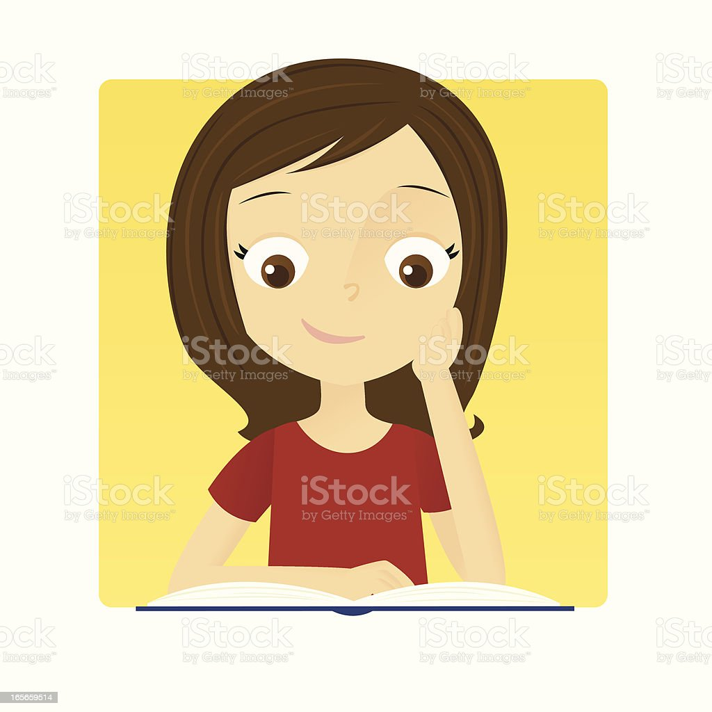 Girl Reading royalty-free girl reading stock vector art & more images of book