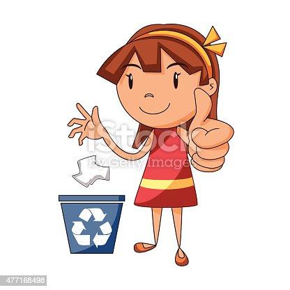 Kid boy plastic garbage bag. Illustration of a boy handling a plastic  garbage bag.