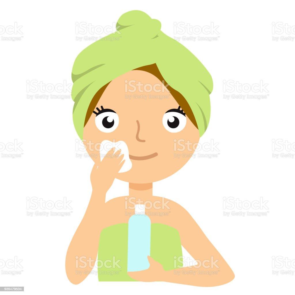 女の子は白い背景の甘い Gitly スタイルのシンプルなイラストが分離された彼女の顔の肖像画フラット漫画を洗浄 1人のベクターアート素材や画像を多数ご用意 Istock