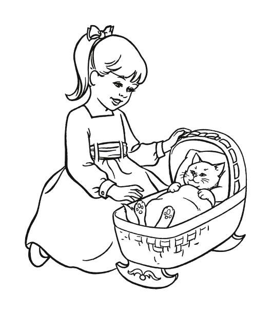 Best Sleeping Baby Crib Illustrations, Royalty-Free Vector ...