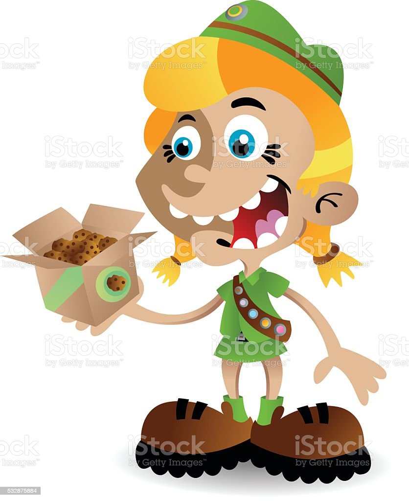 Girl Scout Cookies vector art illustration