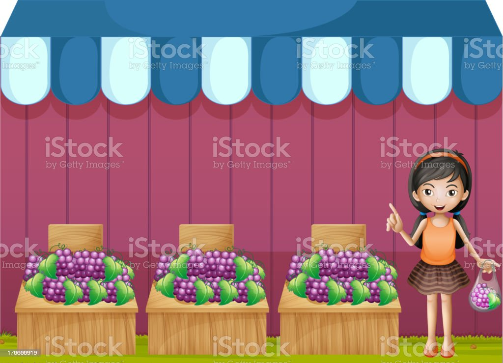girl selling grapes royalty-free girl selling grapes stock vector art & more images of adult