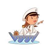 Girl ship captain