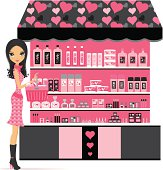 Fashion Girl shopping for beauty and cosmetic products - Layered and groupped. More related: