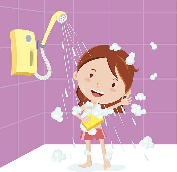 Taking A Bath Illustrations, Royalty-Free Vector Graphics ... |Take A Shower Clipart