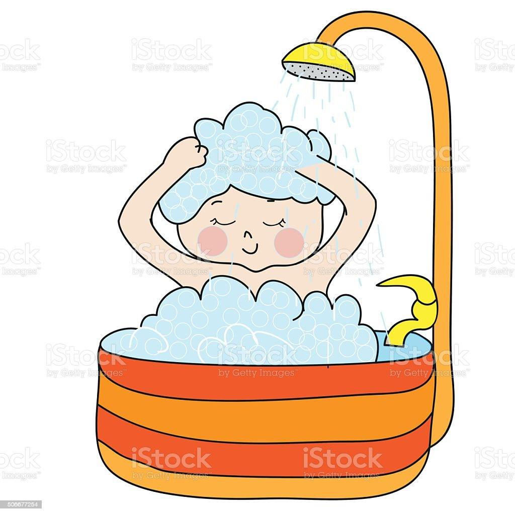 Mädchen beim duschen