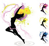 Girl Silhouette Vector illustration