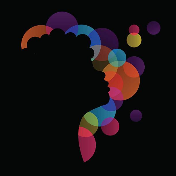 girl silhouette vector art illustration