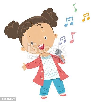 istock Girl singing 858382104