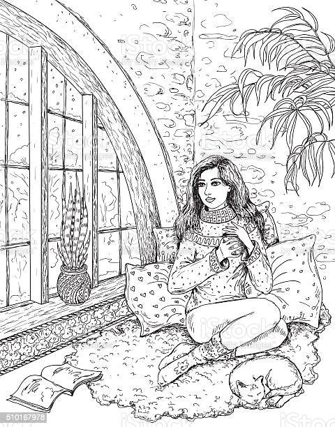 Girl sitting near the window vector id510167978?b=1&k=6&m=510167978&s=612x612&h=g8e7f6vj2rz9rszgadkwyhfmjjeerxyugyvz3pclqzw=