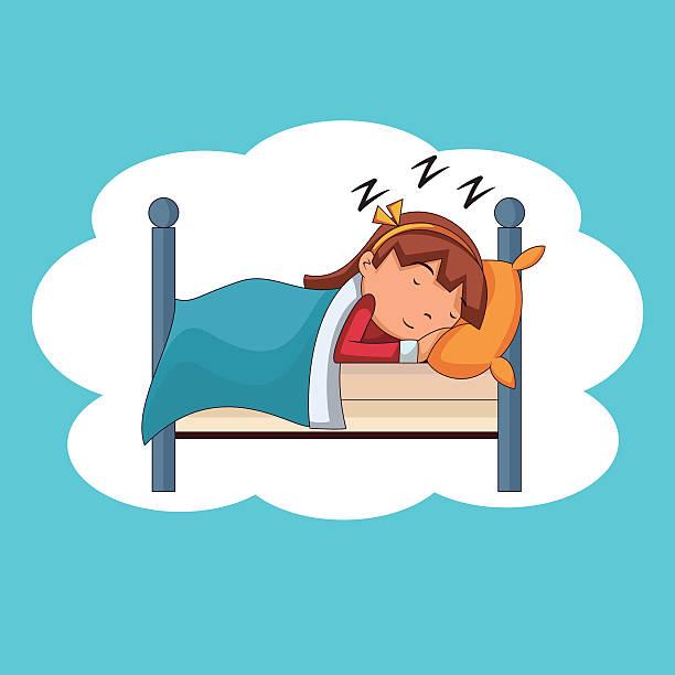 Sleeping Girl On Bed