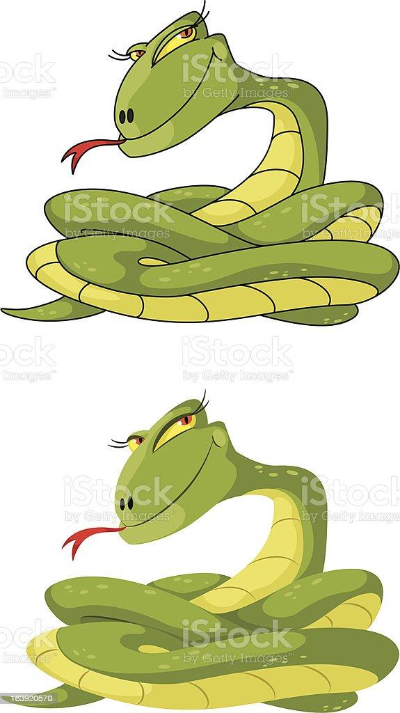 girl snake set royalty-free stock vector art