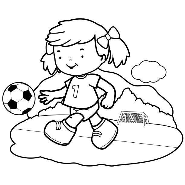 Vectores De Deportes Para Colorear E Ilustraciones Libres De