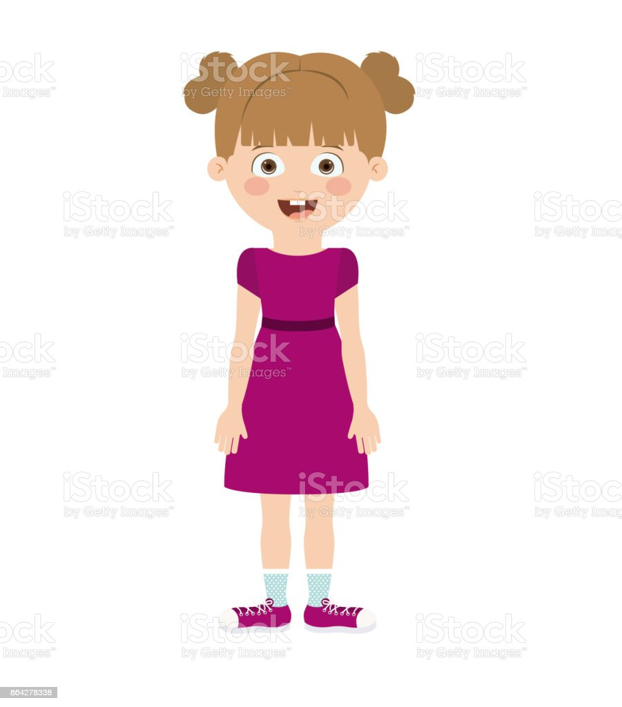 girl standing in front isolated icon design royalty-free girl standing in front isolated icon design stock vector art & more images of adult
