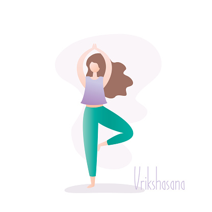 girl standing in yoga posetree pose is a balancing asana
