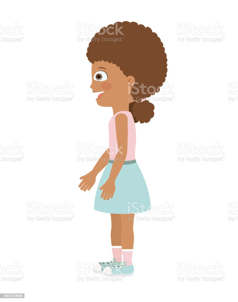 girl standing looking aside isolated icon design royalty-free girl standing looking aside isolated icon design stock vector art & more images of adult