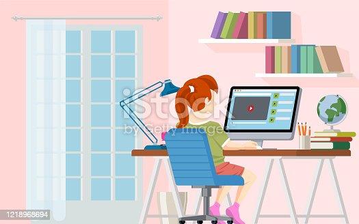 istock Girl Studying 1218968694