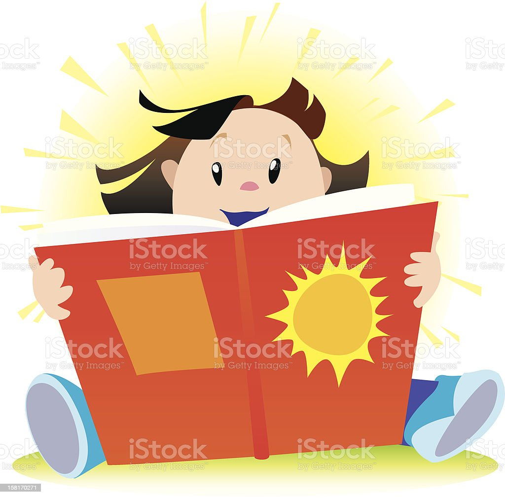 Girl Sunshine Reader royalty-free girl sunshine reader stock vector art & more images of book