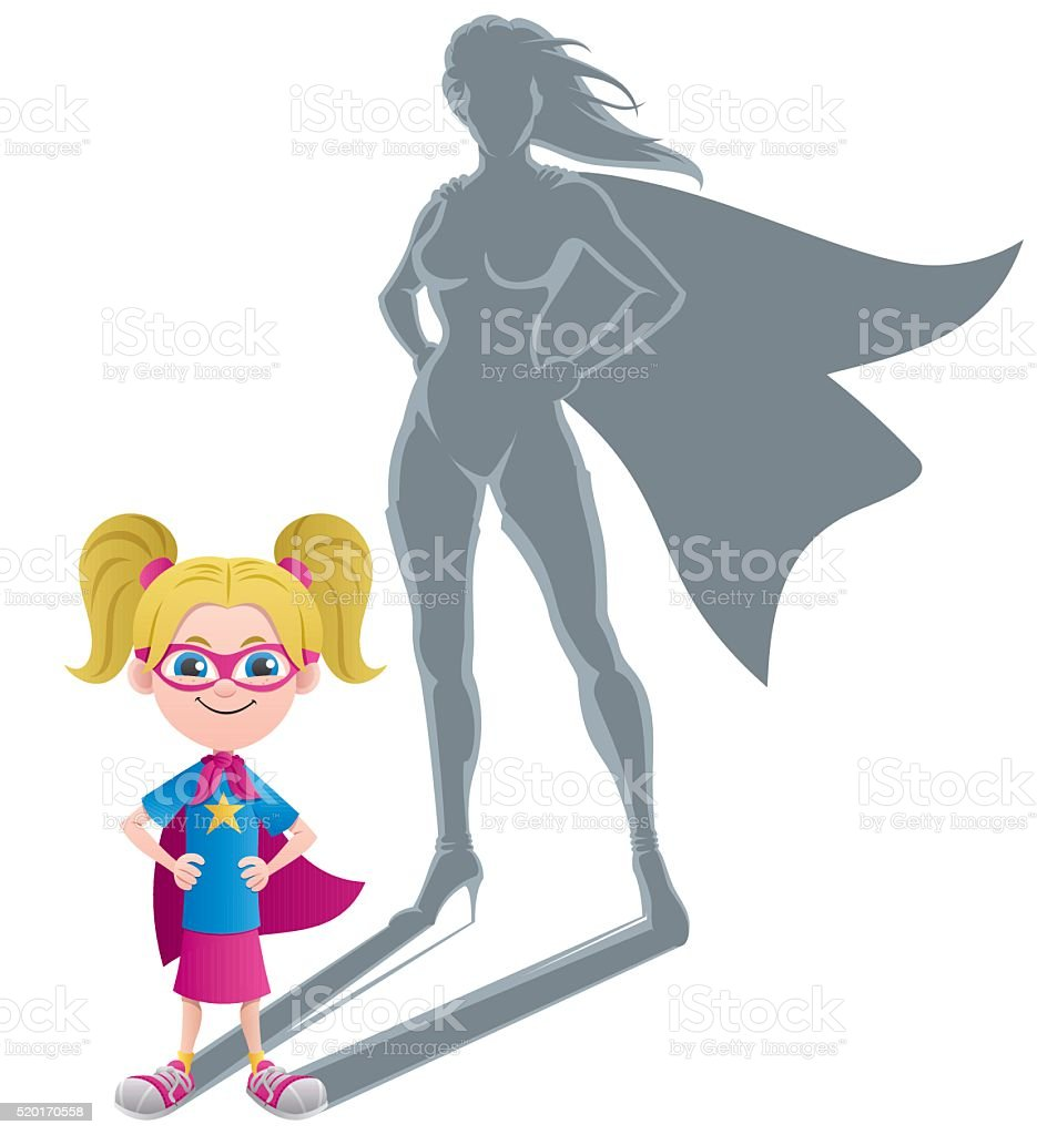 Girl Superheroine Concept vector art illustration