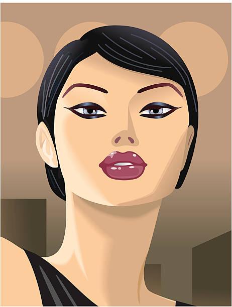 Girl Suprised vector art illustration