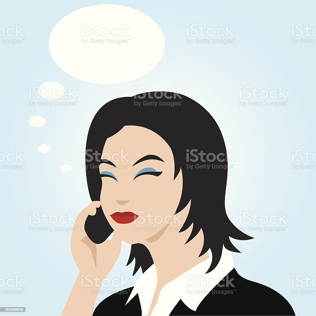 Girl talking at the mobile royalty-free girl talking at the mobile stock vector art & more images of adult