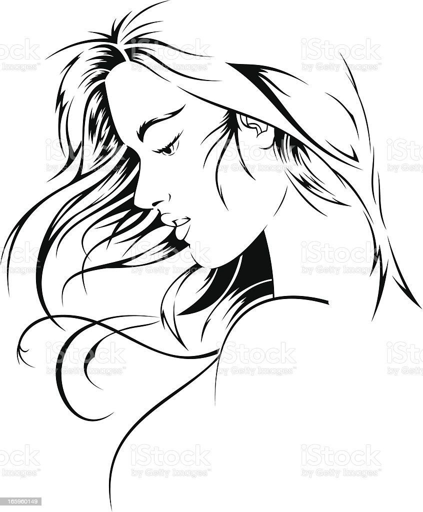 Girl vector art illustration
