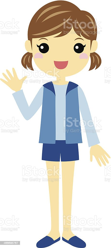 Girl royalty-free girl stock vector art & more images of blue