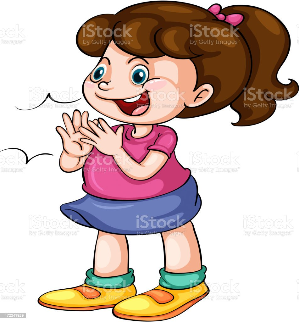 royalty free child clapping hands clip art vector images rh istockphoto com