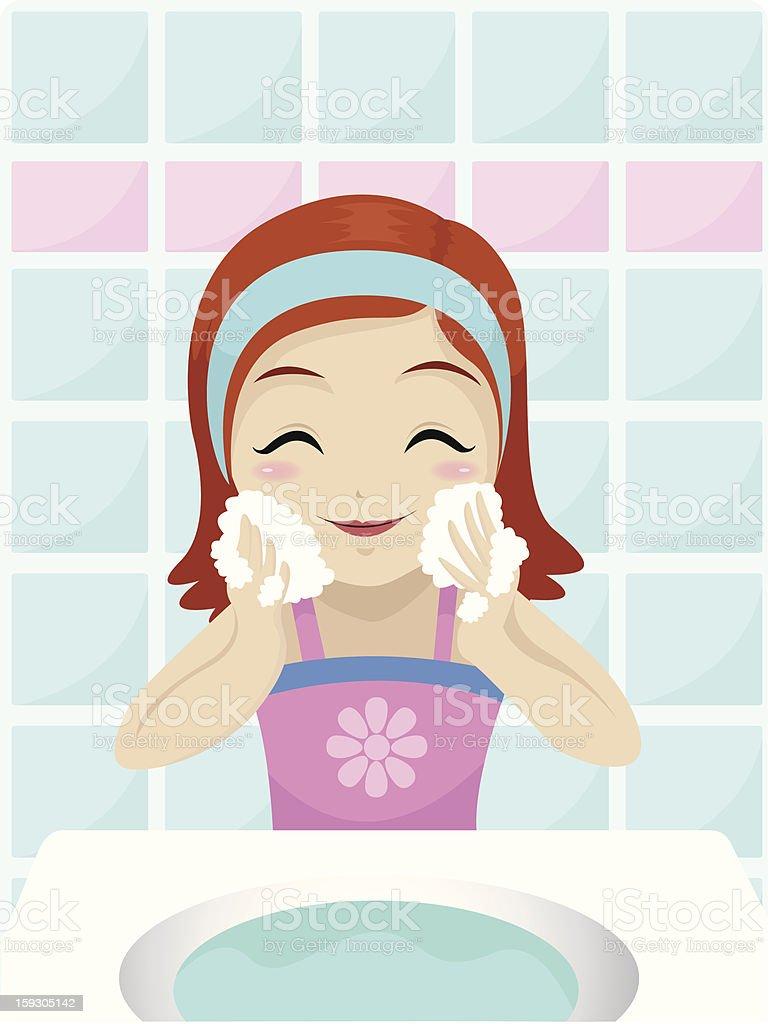 femme de laver son visage cliparts vectoriels et plus d 39 images de adolescent 159305142 istock. Black Bedroom Furniture Sets. Home Design Ideas