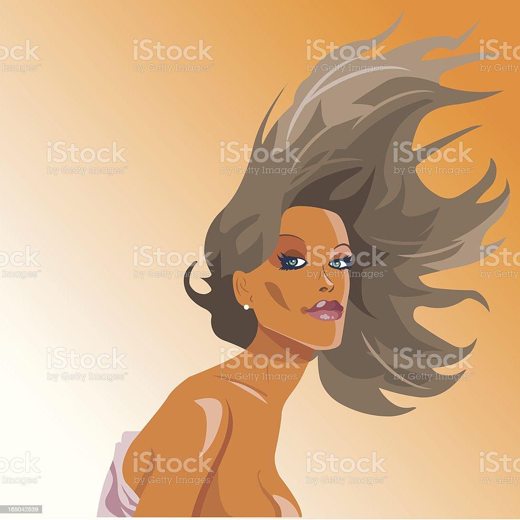 Girl Wavy royalty-free stock vector art